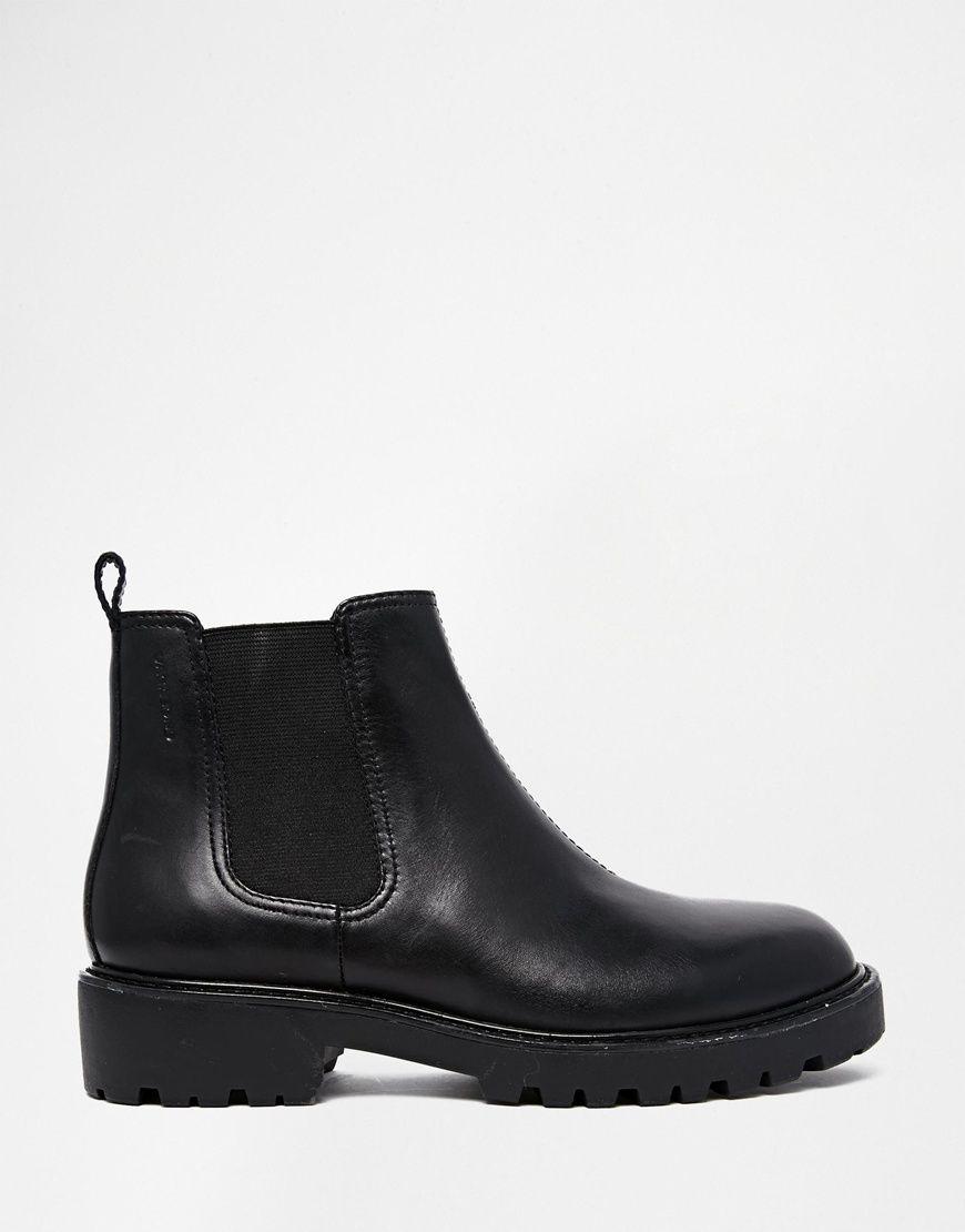 Vagabond Kenova Black Leather Chelsea Ankle Boots | Chelsea ankle ...