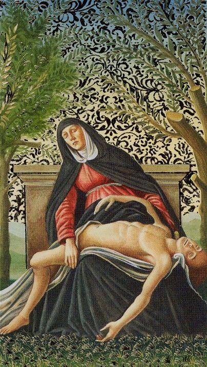 XIII. Death: Golden Botticelli Tarot