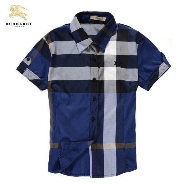 diseño de calidad 52274 54336 Camisas Burberry Hombre JF78 Camisas Burberry Hombre Manga ...
