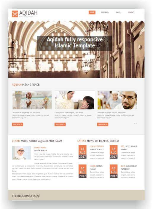 Joomla Islamic Template Augen
