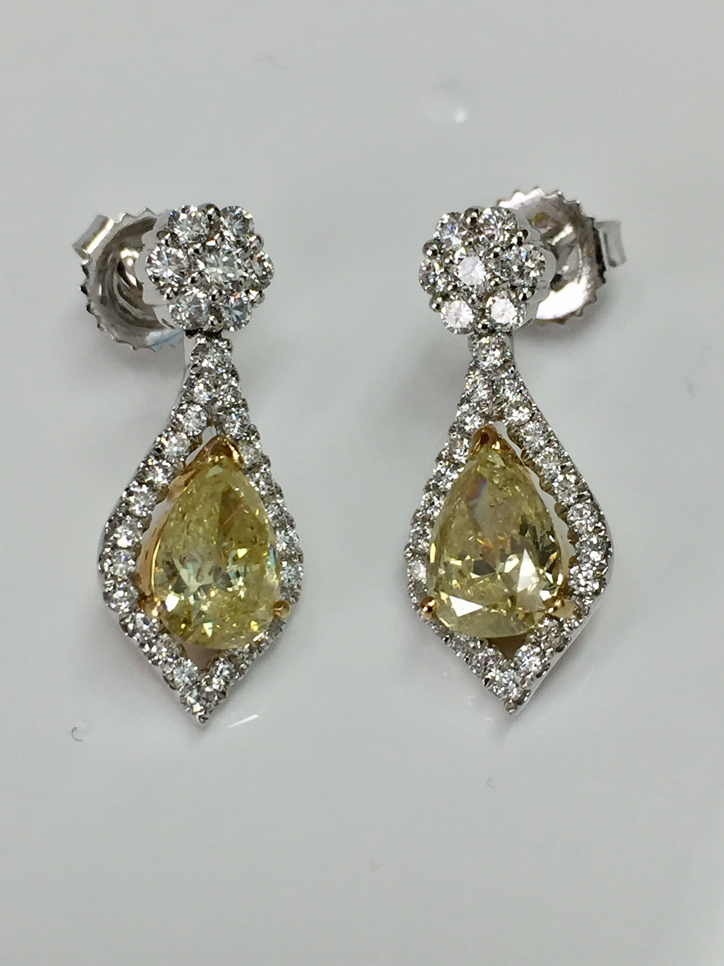 shape yellow hills alan rectangular drop diamond earrings jewelry company detailsbridal beverly l pear friedman