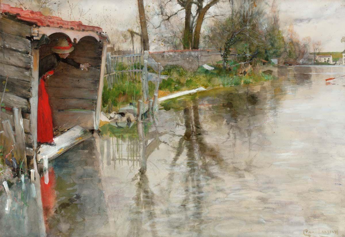 Grez-sur-Loing', 1887 - by Carl Larsson | Privateje | Carl larsson ...