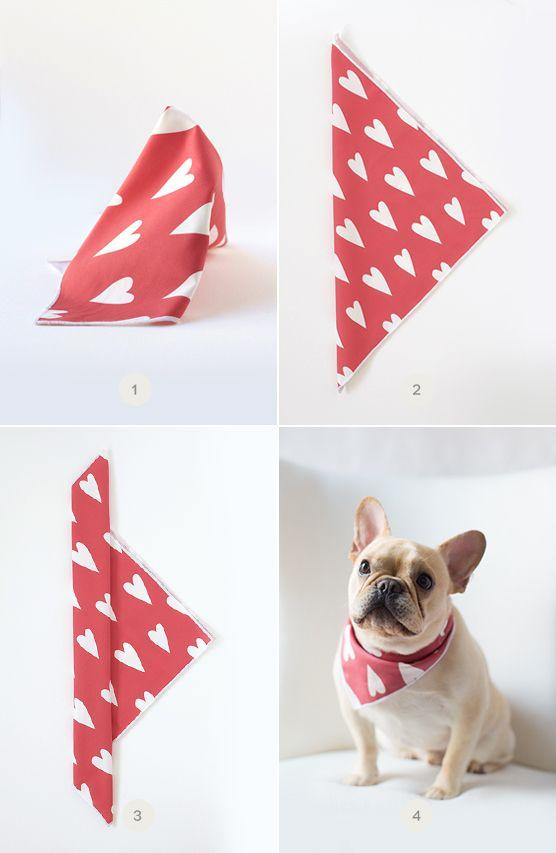 Diy Valentine S Day Dog Bandana Valentines Day Dog Dog