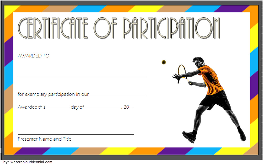 Printable Tennis Certificate Templates Free 20 Great Ideas Di 2020