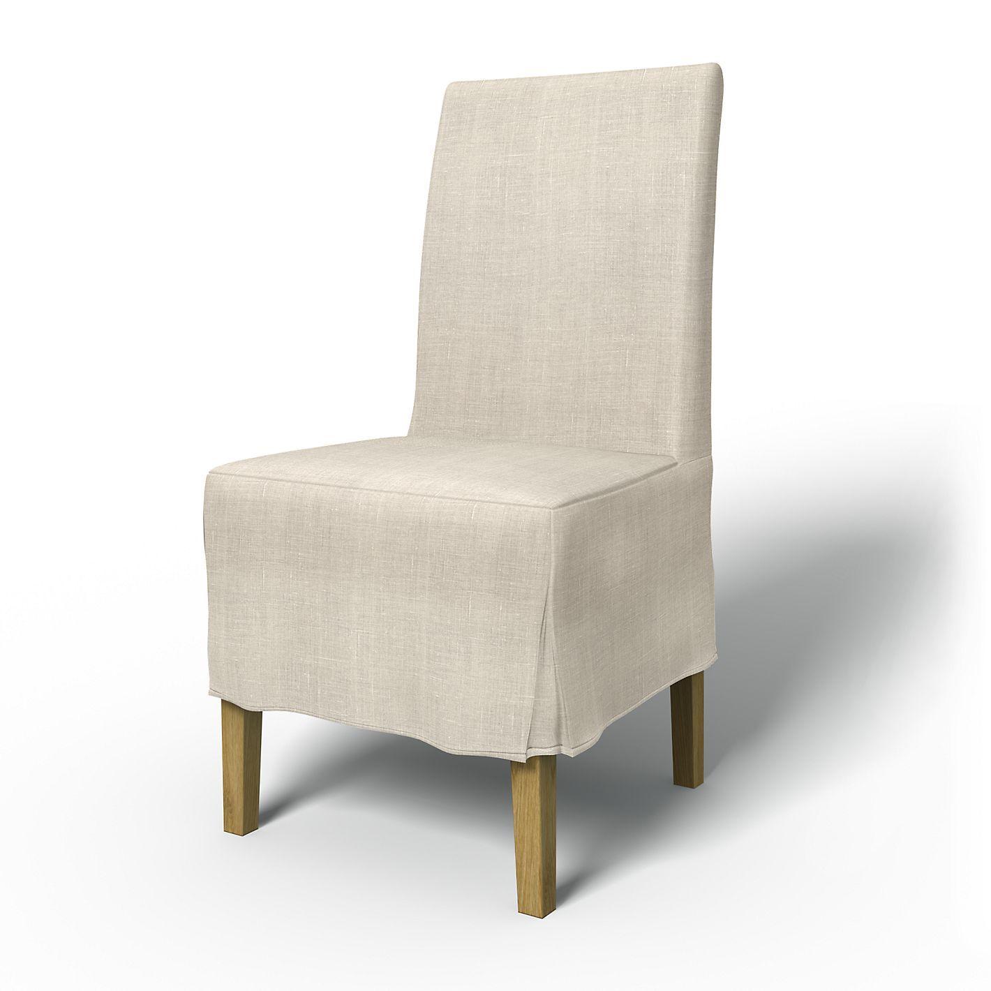 Sensational Henriksdal Chair Cover Medium Long With Box Pleat Dining Inzonedesignstudio Interior Chair Design Inzonedesignstudiocom