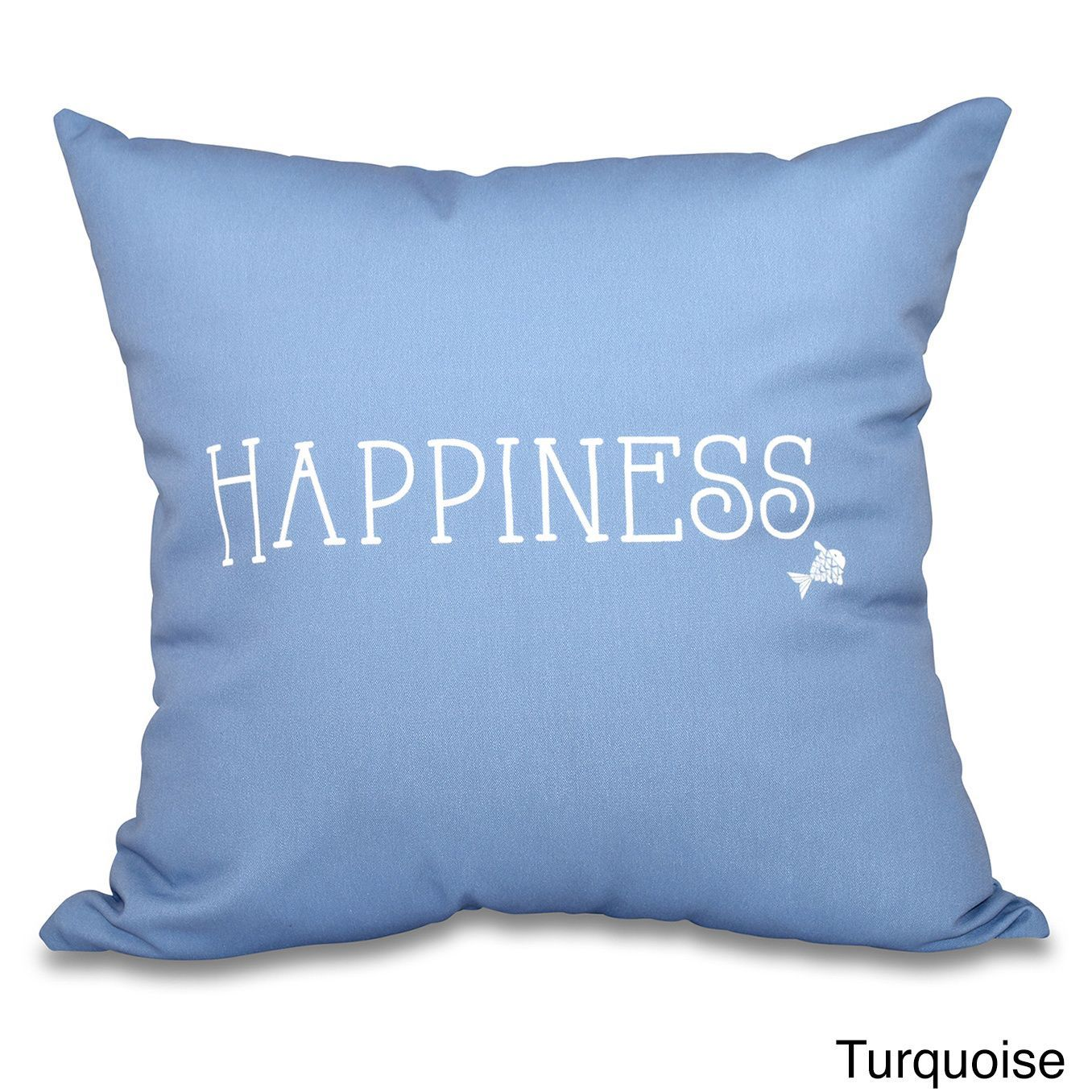 E by design coastal happiness word print inch throw pillow