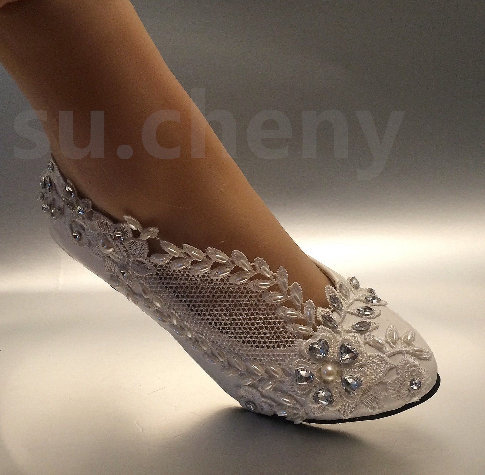 Su Cheny 2 Lace White Light Ivory Rhinestone Wedding Bridal Pumps Heels Shoes Bridal Shoes Low Heel Wedding Shoes Lace Ivory Wedding Shoes Low Heel
