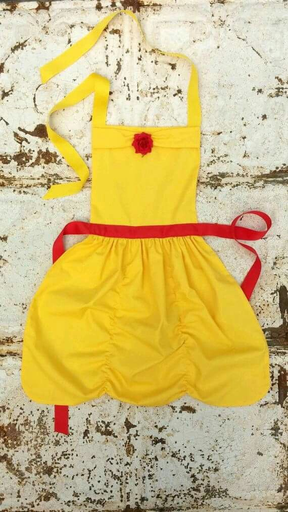Belle disney princess apron | DYI | Pinterest