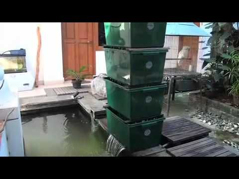Diy bakki shower filter garden pinterest filter for Pond gravel filter design