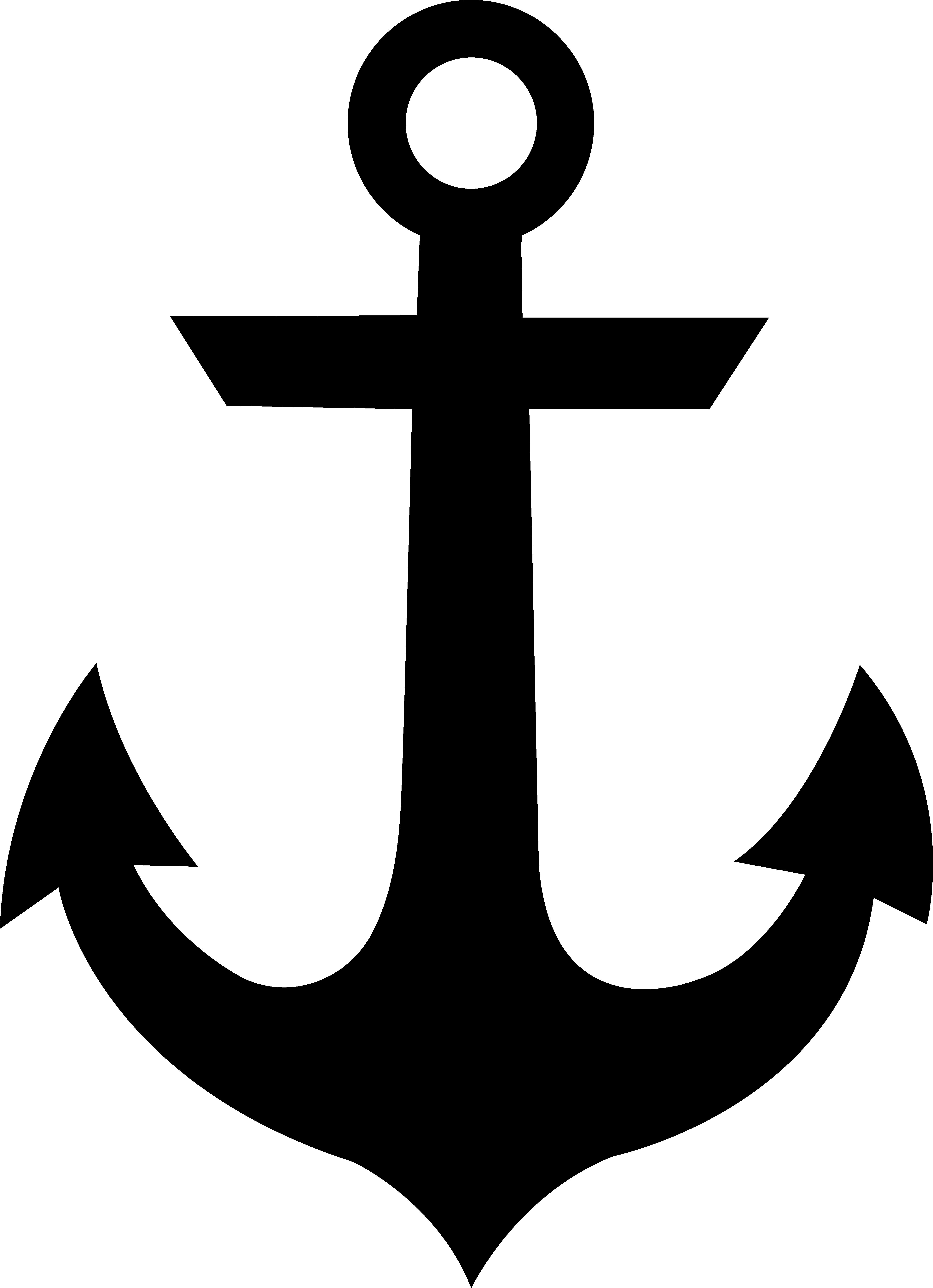 free clip art black anchor silhouette