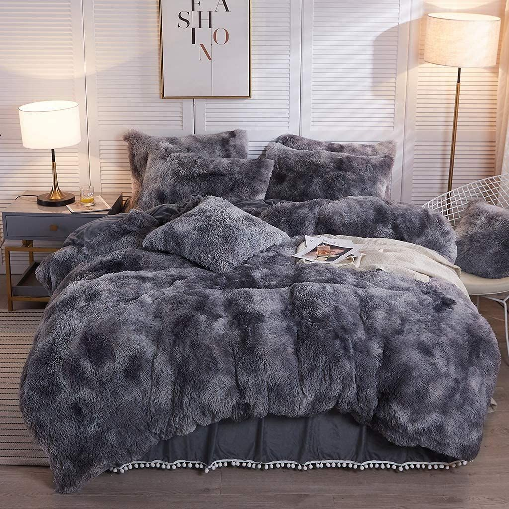 The Softy Marble Gray Bed Set in 2020 Gray bed set