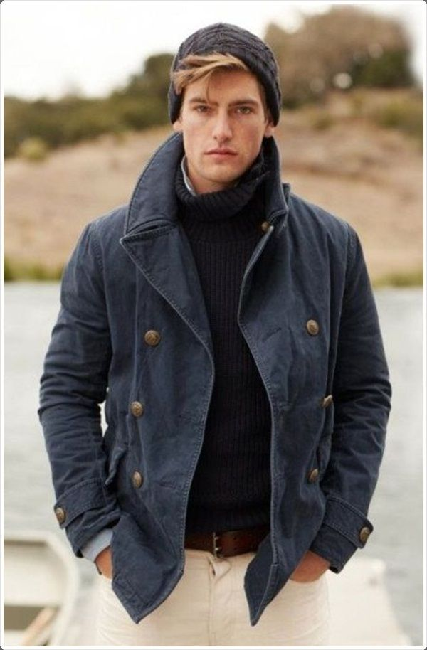 40 Dynamic and Fashionable Pea Coats for Men   Men's fashion