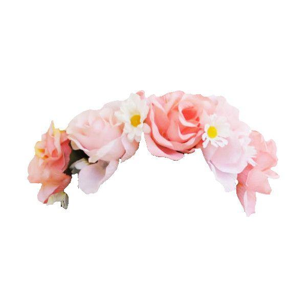 Transparent pink flower crown