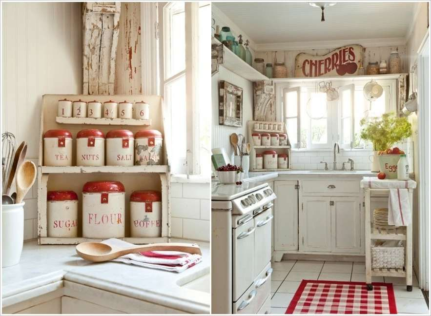 A White Kitchen With Red Accents