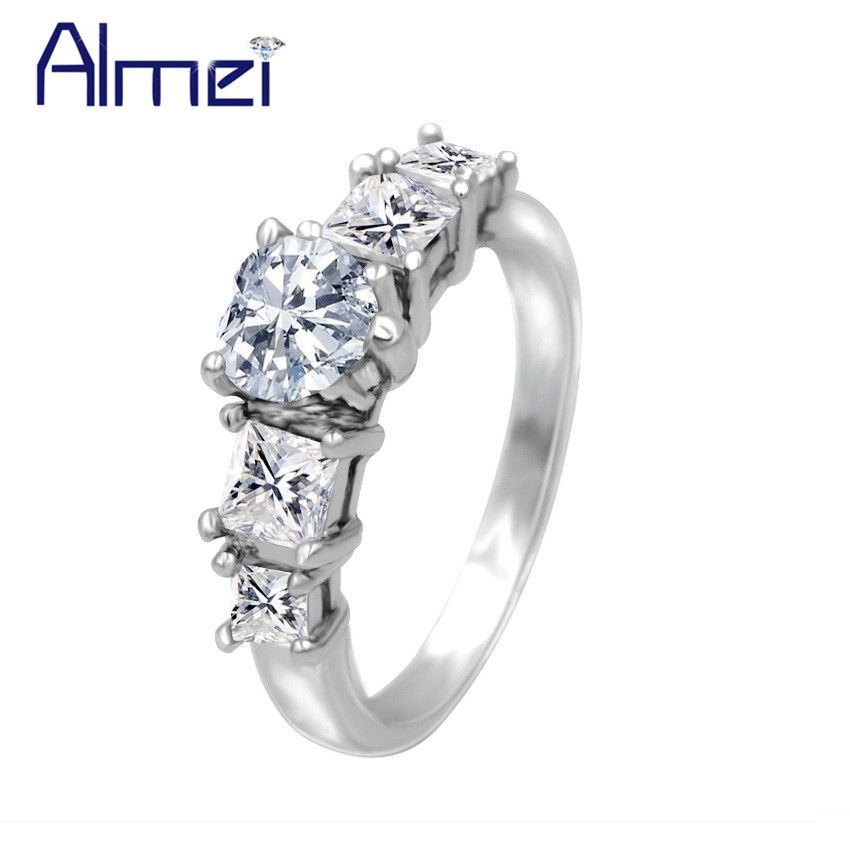 Find More Rings Information about Almei Silver Rings for Women Wedding Female Ring Heart CZ Diamond Anel New Year Christmas Gift Vintage Jewelry Anelli Bague Y140,High Quality ring filter,China ring rhinoceros Suppliers, Cheap ring lanyard from Almei Jewelry Store on Aliexpress.com