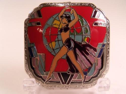 Art Deco J M Fisher exotic dancer compact