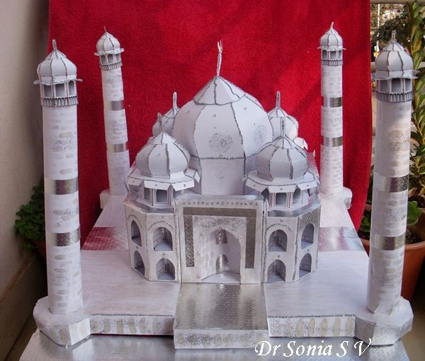 Taj Mahal Paper Model Paper Models Pinterest