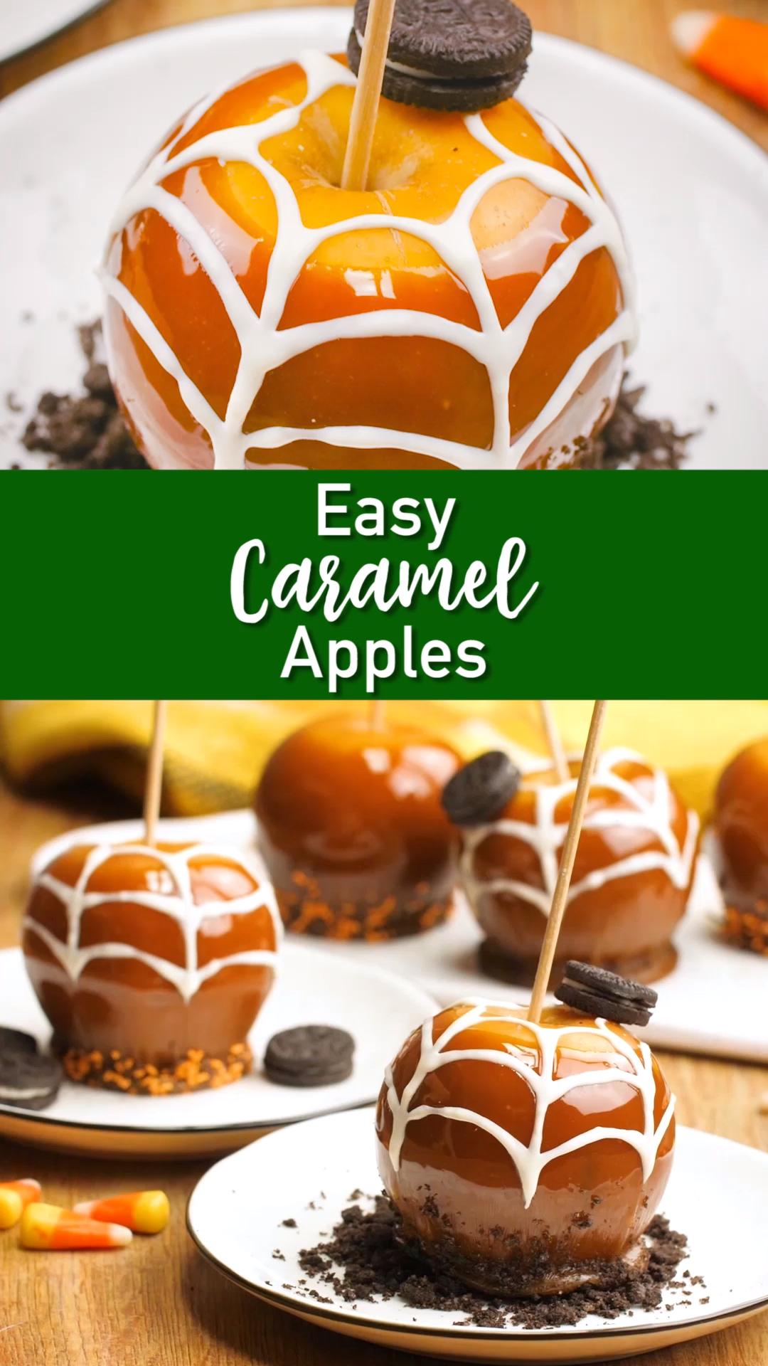 Easy Caramel Apples #caramelapples