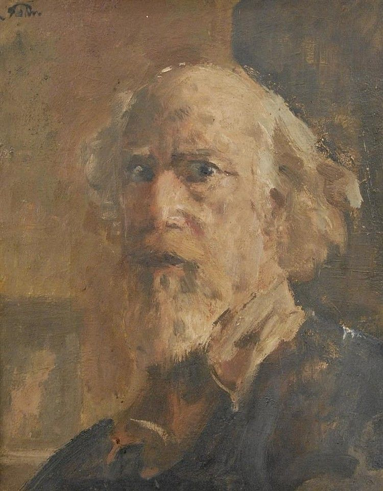 AUGUSTUS JOHN, (English, 1878-1961), SELF PORTRAIT, oil on canvas;, 20 x 16 inches