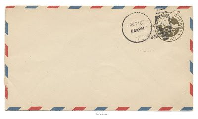 Via Air Mail Escribiendo Cartas Pegatinas Bonitas Y Regalos