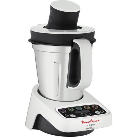 moulinex robot cuiseur volupta blanc gris hf404110 pas cher robot cuiseur auchan ventes pas. Black Bedroom Furniture Sets. Home Design Ideas