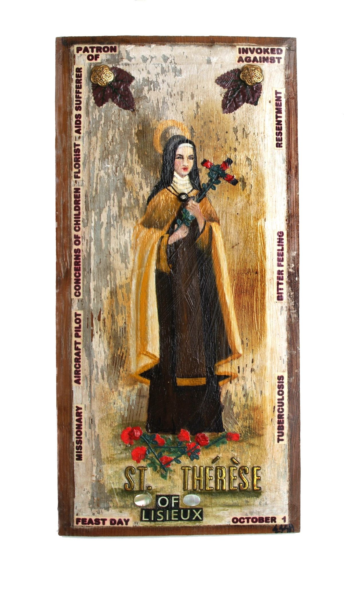 Patroness of Aid suffers,Florists, Concerns of children, Aircraft pilots, Missionary