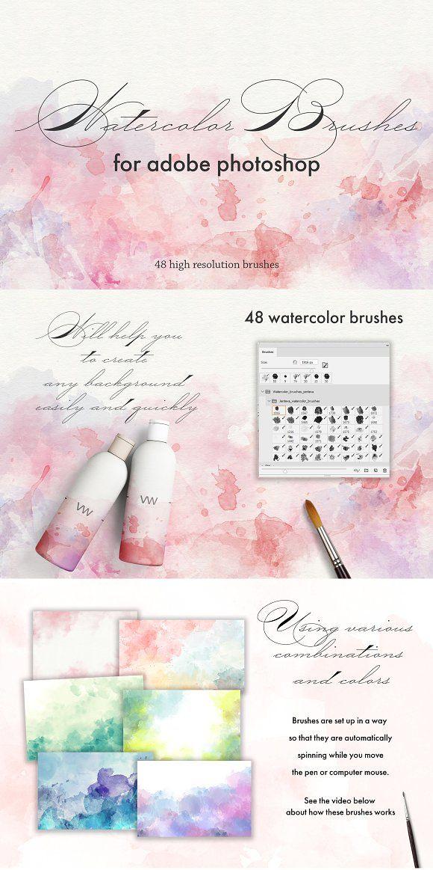 Watercolor Photoshop Brush Set By The Art Of Jenteva On