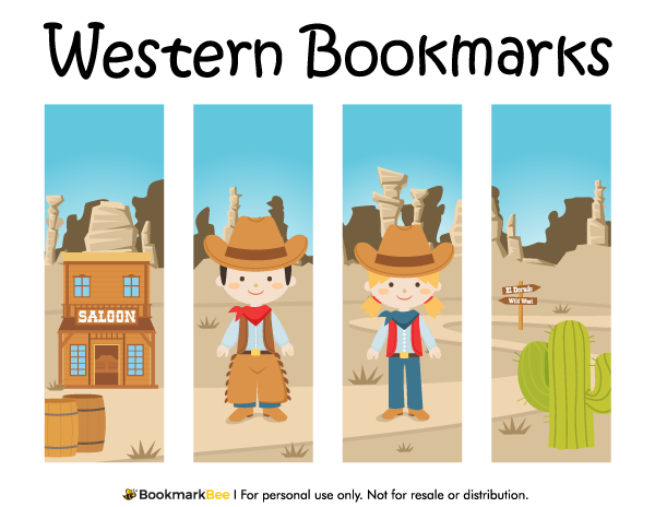 photo about Free Printable Western Templates titled Pin as a result of Muse Printables upon Printable Bookmarks at BookmarkBee