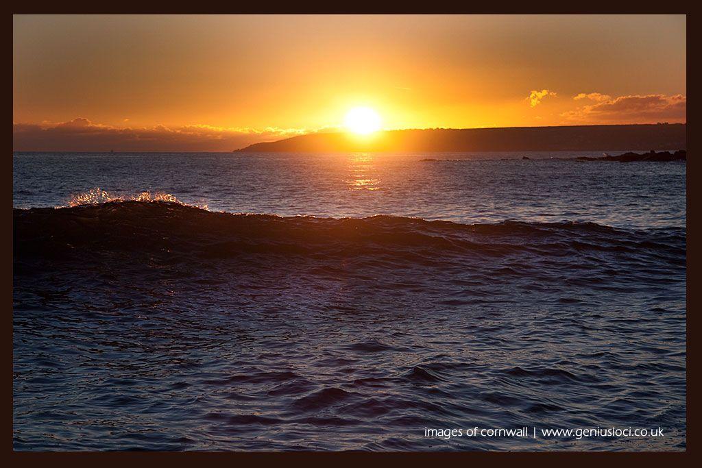 Perranuthnoe Beach West Cornwall Sunset High Tide... January 20th 16.45pm