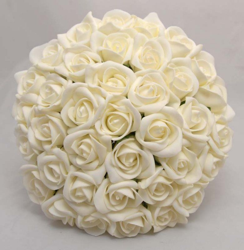 An Elegant Bridal Bouquet Handmade In A Round Hand Tied Design With Easy To Carry