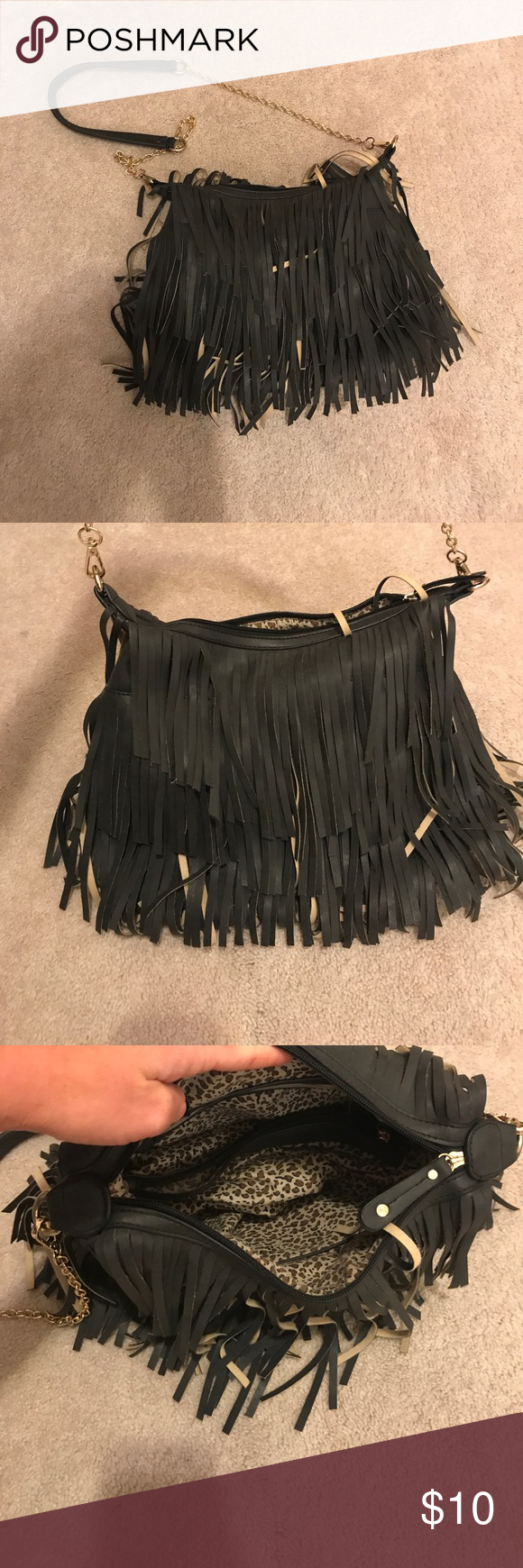 Fringe bag Perfect used condition . Not brandy Brandy Melville Bags Crossbody Bags