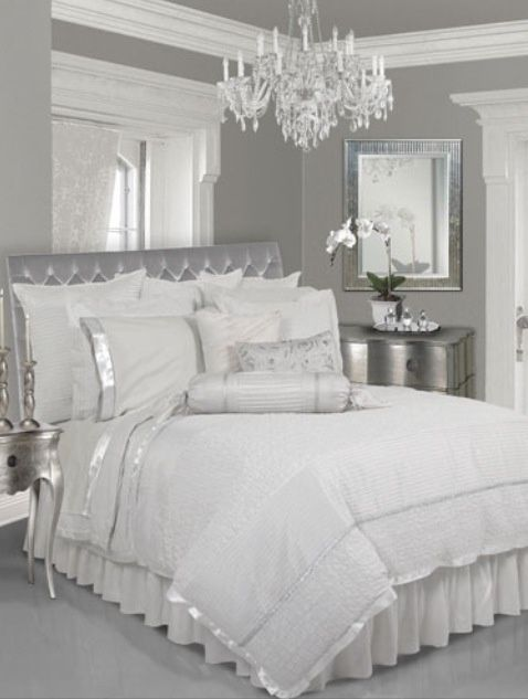 Photo of 14 Silberne Schlafzimmer-Designs für den Royal Look in the Home – Dekorationen gram