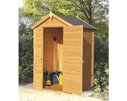 Wandhaus Cabin mit Fußboden 132x82 cm hellbraun Schuppen
