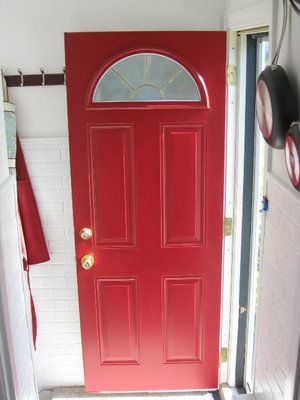 At Home With H How To Paint Steel Entry Doors Wow Pinterest