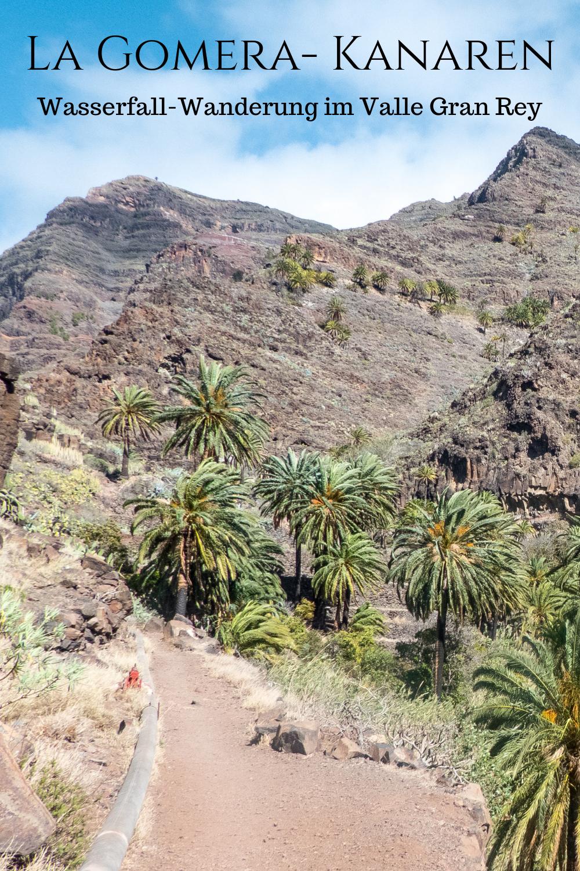 La Gomera: Wanderung zum Wasserfall im Valle Gran Rey im Ort El Guro