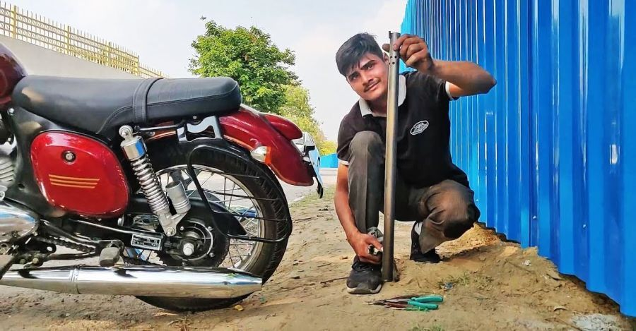 India S First Modified Jawa 42 Is Here Exhaust Altered For