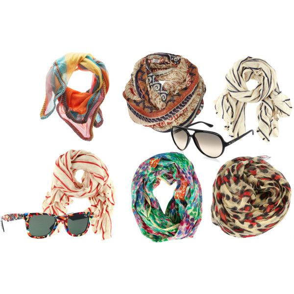Scarves and sunglasses - summerrr <3