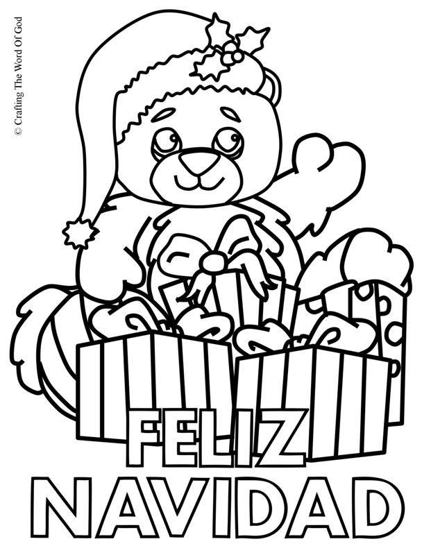 Feliz Navidad 2- Pagina De Colorear   Christmas coloring pages ...