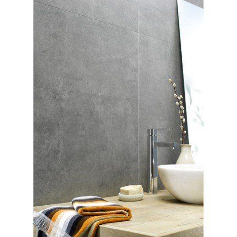 Dalle Murale Pvc Gris Dumawall L 65 X L 37 5 Cm X Ep 5 Mm Badkamer Toilet