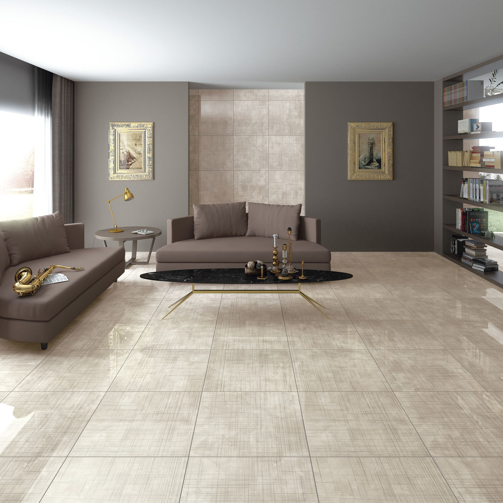 Modern Garage Floor Tiles Design With Grey Color Interior: Arcana Tiles