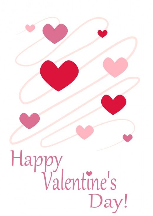 Happy Valentine's Day with Swirling Hearts