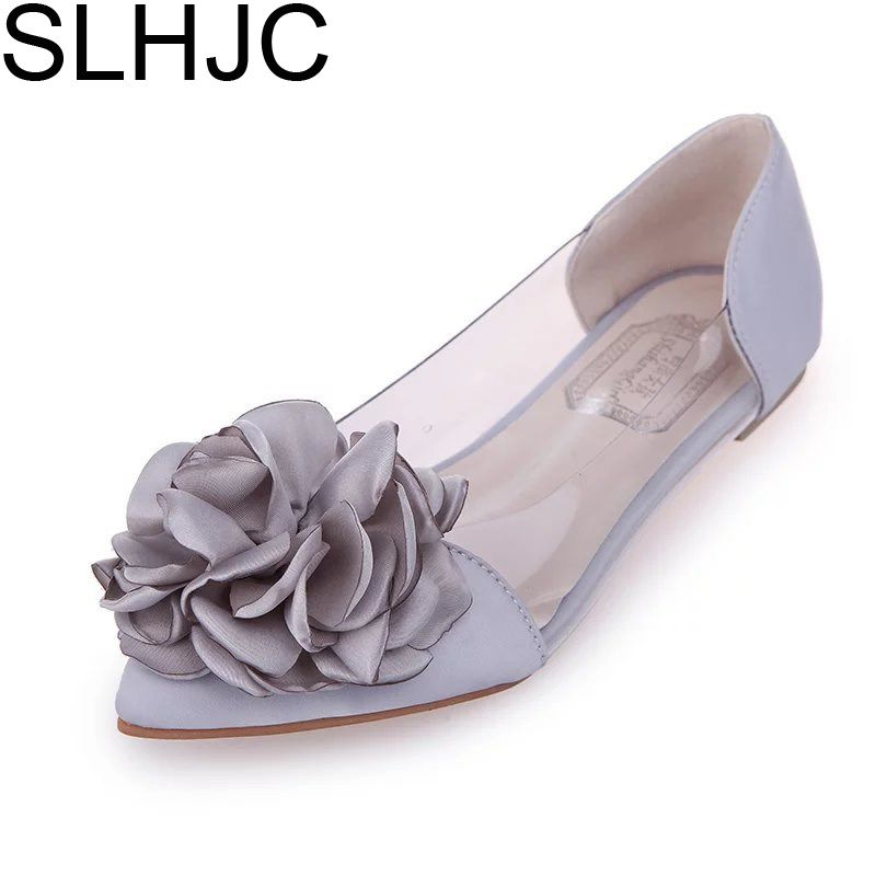 Women'S Flower And Transparent Flat Shoes