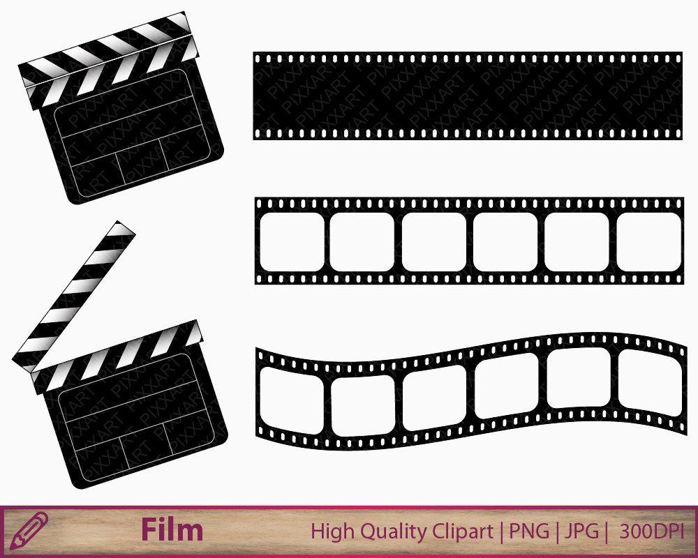Movie Clipart Film Clapperboard Clip Art Film Strip Clipart Etsy Movie Clipart Film Strip Clip Art