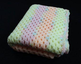 Rosa Und Grauen Oma Square Baby Decke Baby Decke Von Thelmasgifts