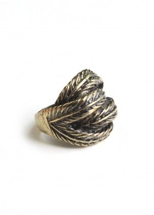 Woven Feathers Ring $12.00 (this site has tons of other great cute jewelry pieces!)