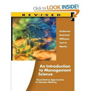 An introduction to management science quantitative approaches to an introduction to management science quantitative approaches to decision making revised 13th edition fandeluxe Gallery