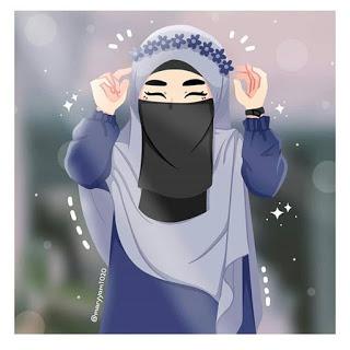 kumpulan anime kartun muslimah bercadar parft 3 ely