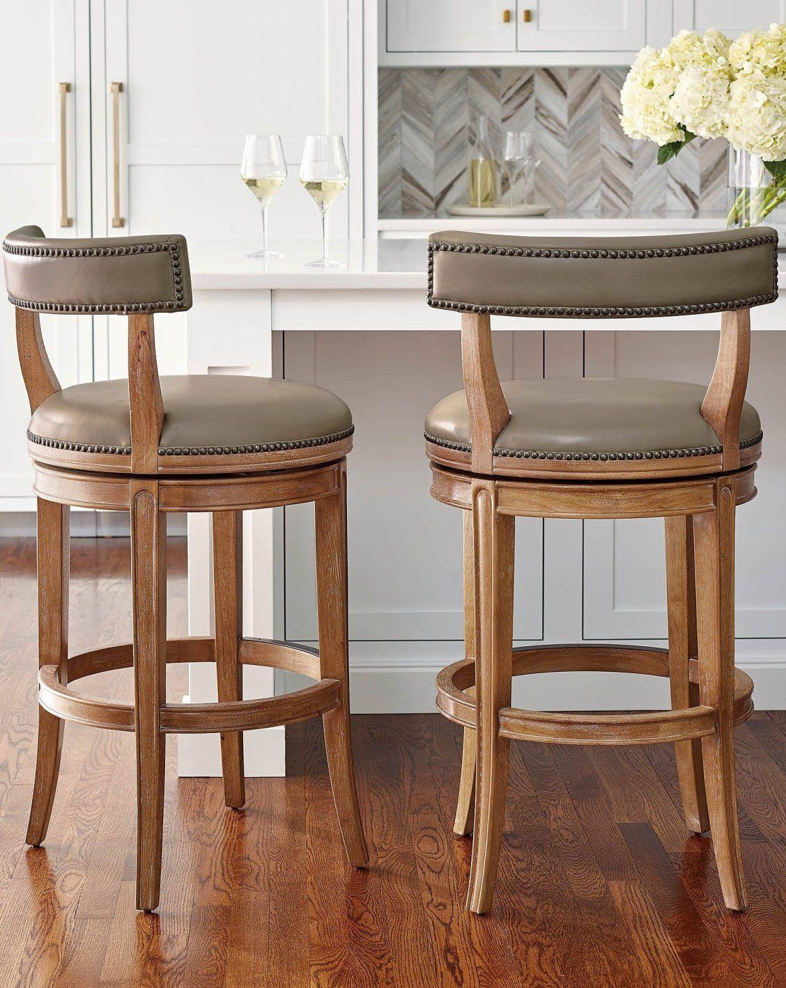 Henning Low Back Swivel Bar Counter Stool Frontgate In 2020 Counter Stools Swivel Counter Stools Indoor Furniture