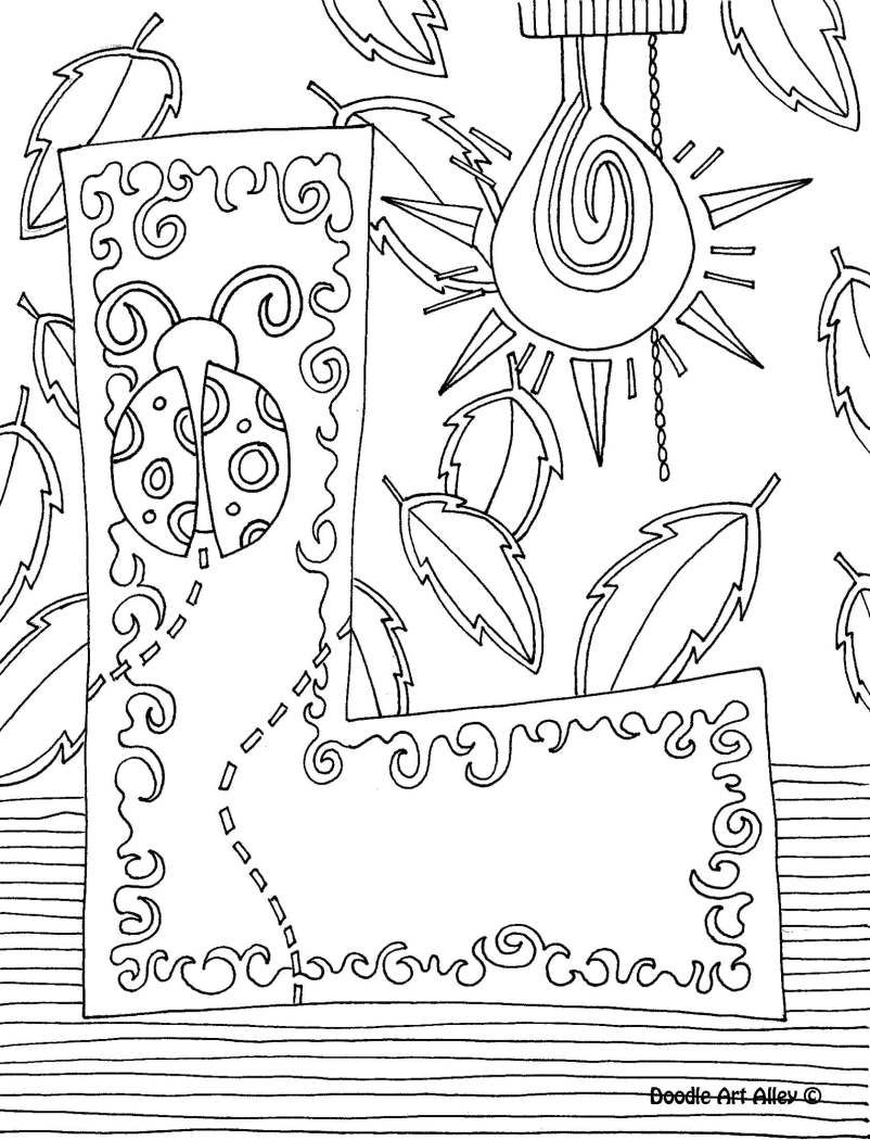 Letter Coloring Pages Doodle Art Alley  Doodles