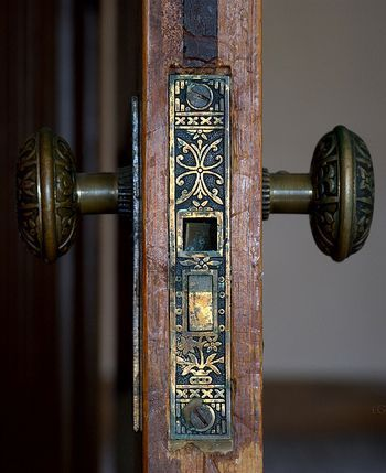 Stunning Antique Brass Door Lock Mechanism.